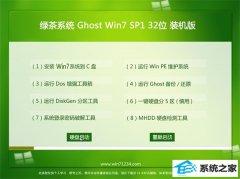 绿茶系统Win7 32位 稳定装机版 2021.04