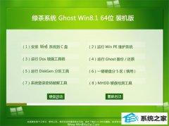 绿茶系统Ghost Win8.1 64位 珍藏装机版 2021.04